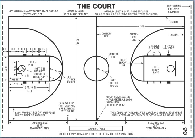 outdoor basketball court template