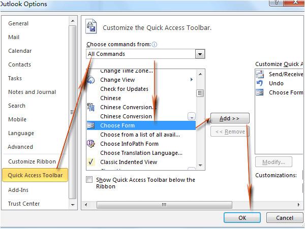 1324 outlook add template shortcut
