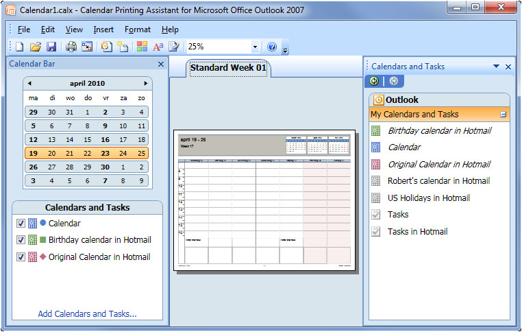 Outlook Calendar Printing assistant Templates Printing Combined Calendars Msoutlook Info