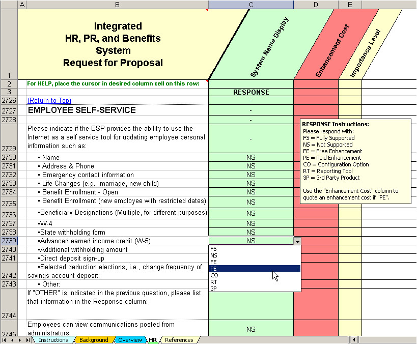 outsourcing risk assessment template hr amp payroll outsourcing rfp evaluation amp selection