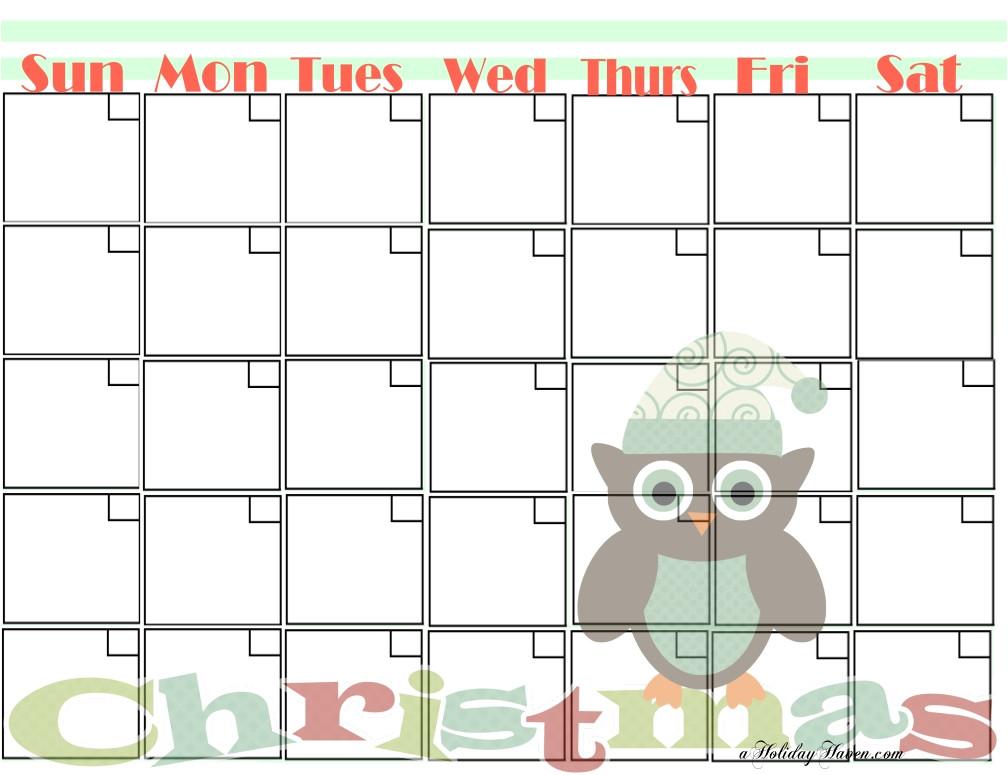 post printable owl calendar 18047