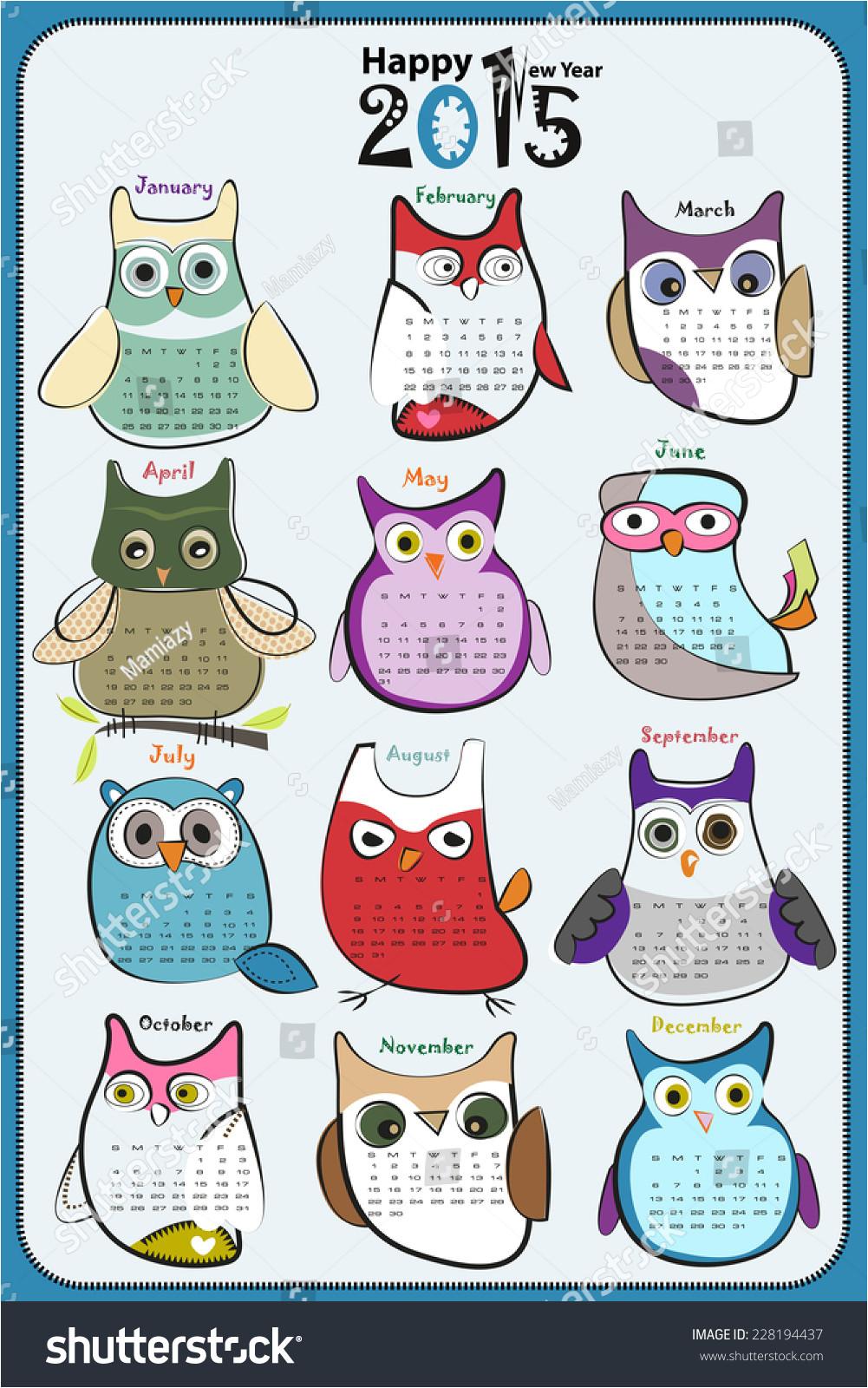 owl calendar 2015 228194437