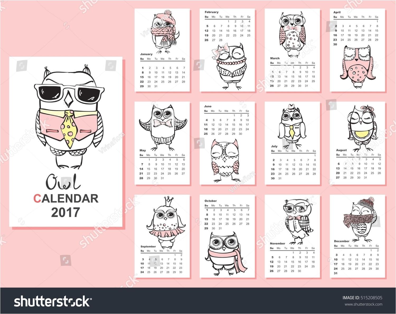 owl calendar 2017 cute owls birds 515208505