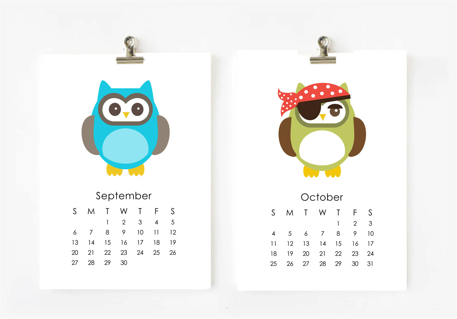 owl calendar page for may 2016