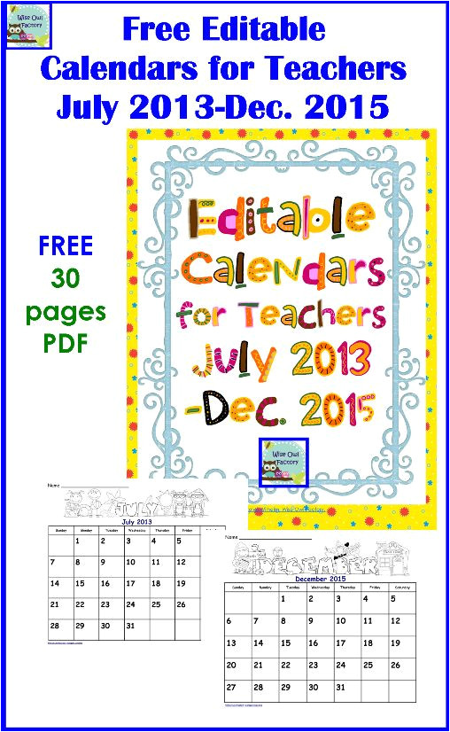 Owl Calendar Template Wise Owl Factory Printable Calendar Calendar Template 2018