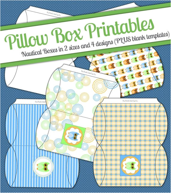 Owl Pillow Box Template Instant Download Owl Diy Printable Pillow Boxes Digital Jpeg