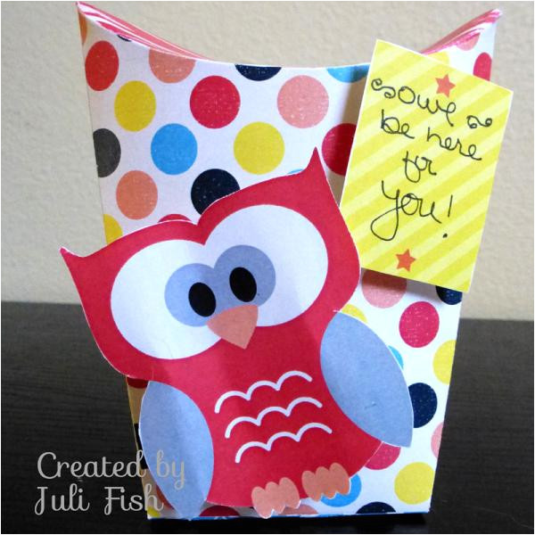 Owl Pillow Box Template Owl Be there Standing Pillow Box by Jubeefish at