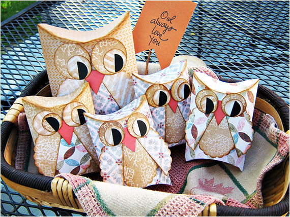 printable owl pillow treat boxes with free template