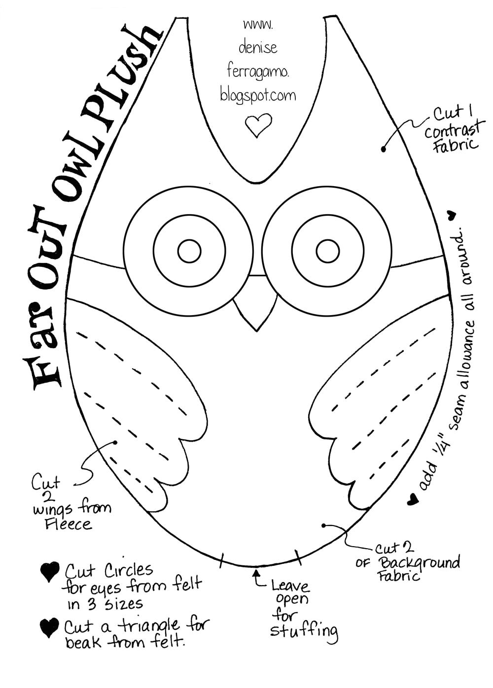 make this cute owl plushie with my free