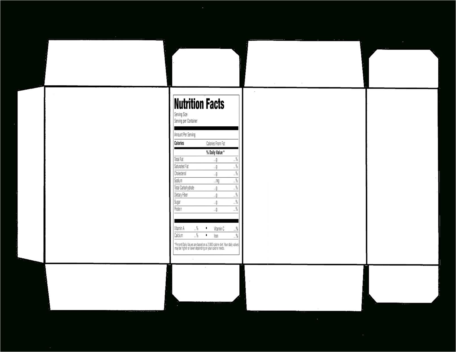 Package Design Templates Illustrator Cereal Box Template Illustrator