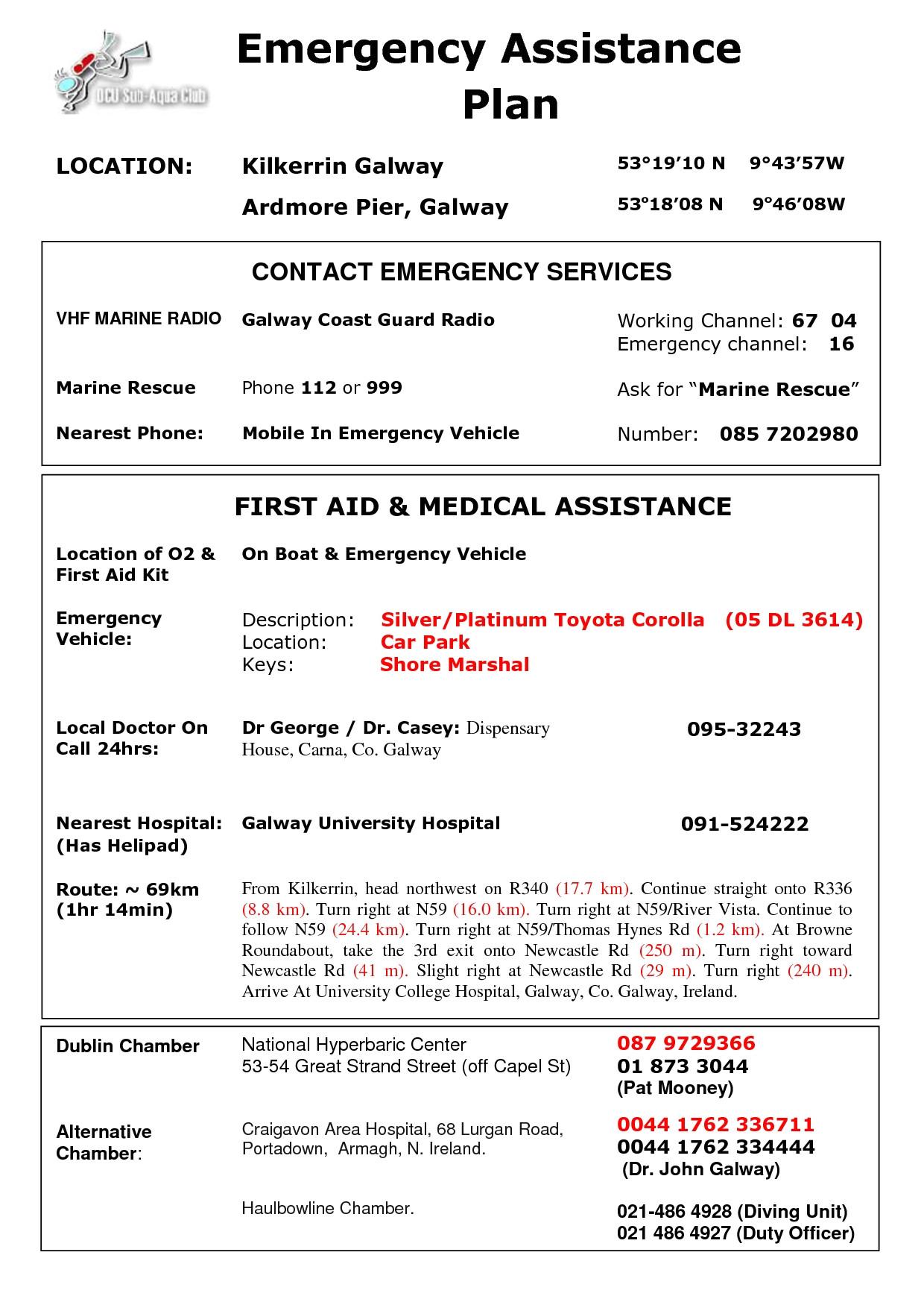 Padi Emergency Action Plan Template Padi Emergency Action Plan Template Mentalidadhumana Info