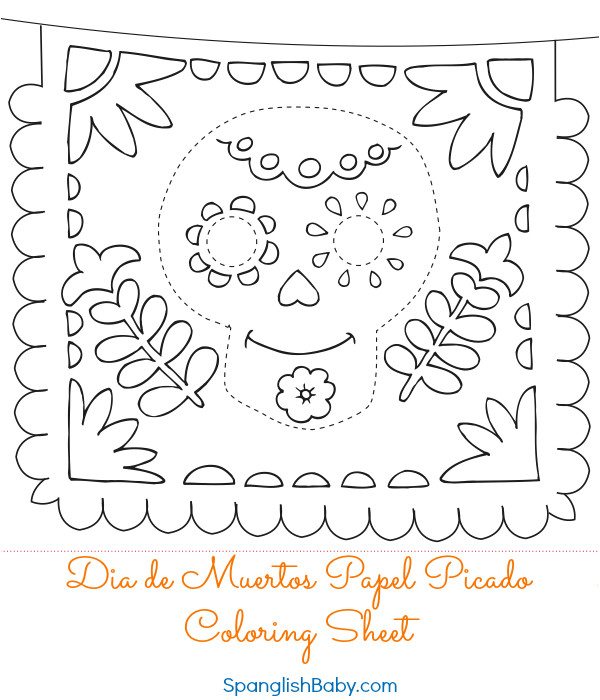 Papel Picado Template for Kids Papel Picado Template Printable Www Pixshark Com