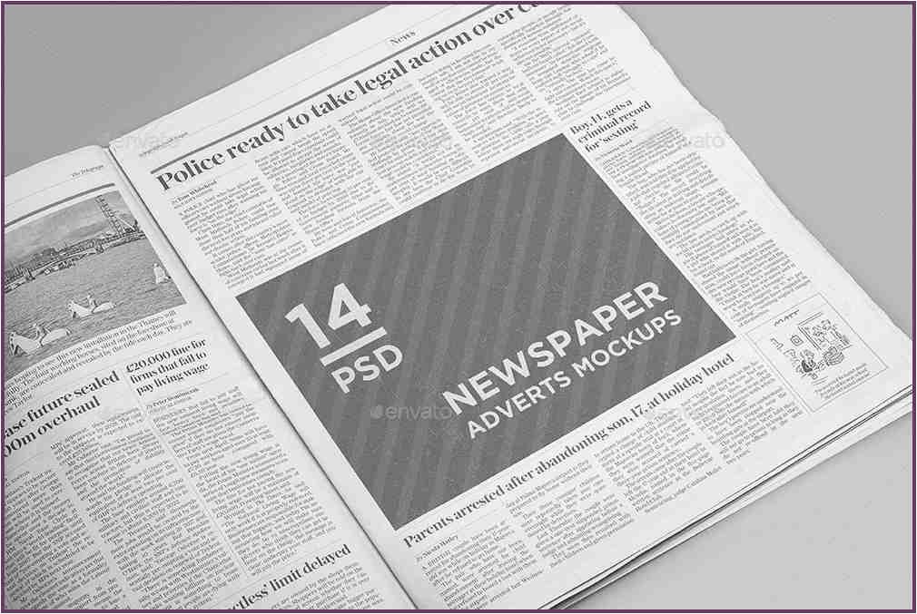 newspaper advertising templates