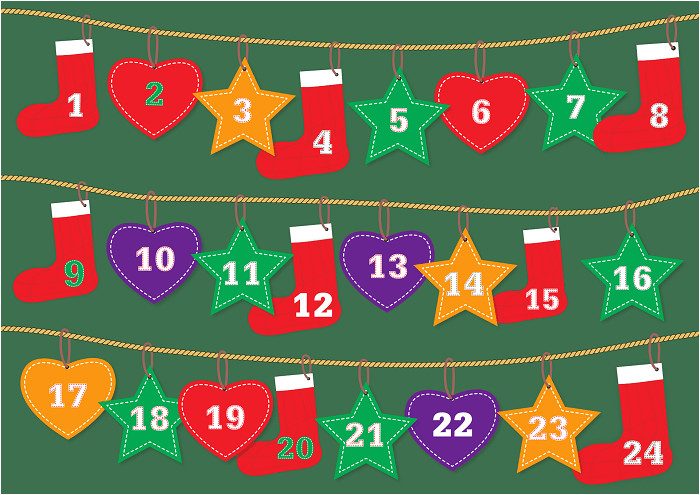 advent calendar printable template