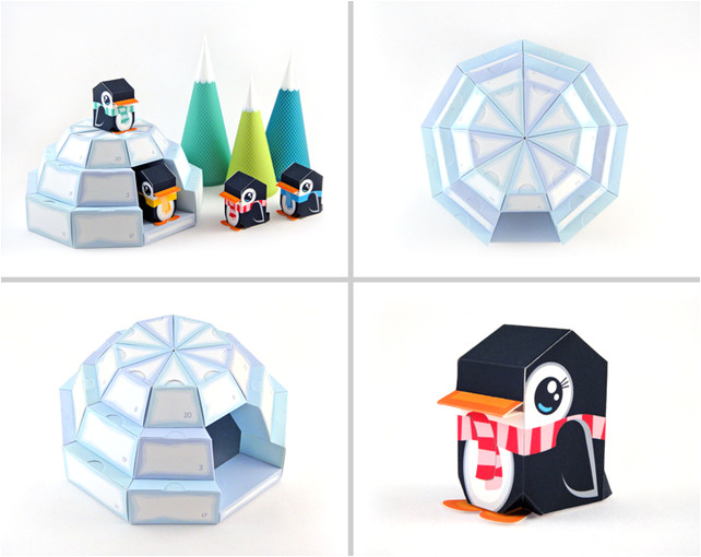 6554979 igloo advent calendar printable paper craft pdf