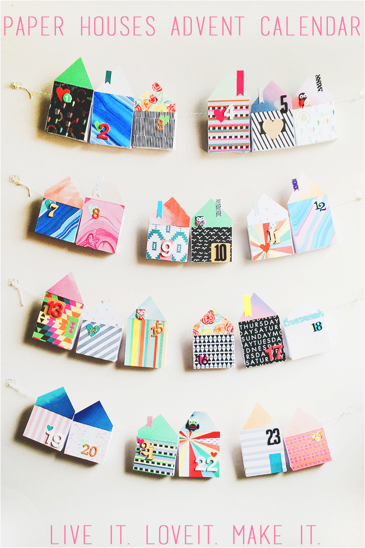make it paper houses advent calendar