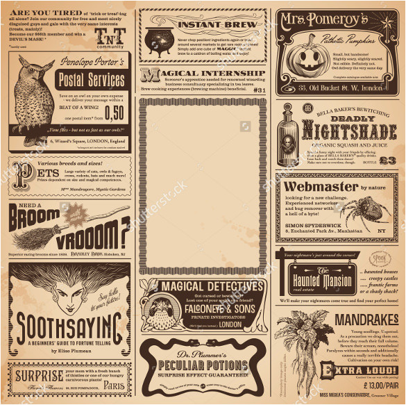 Paper Advertisement Templates 15 Newspaper Ad Templates Free Sample Example format