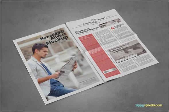 newspaper advertisement mockup psd templates