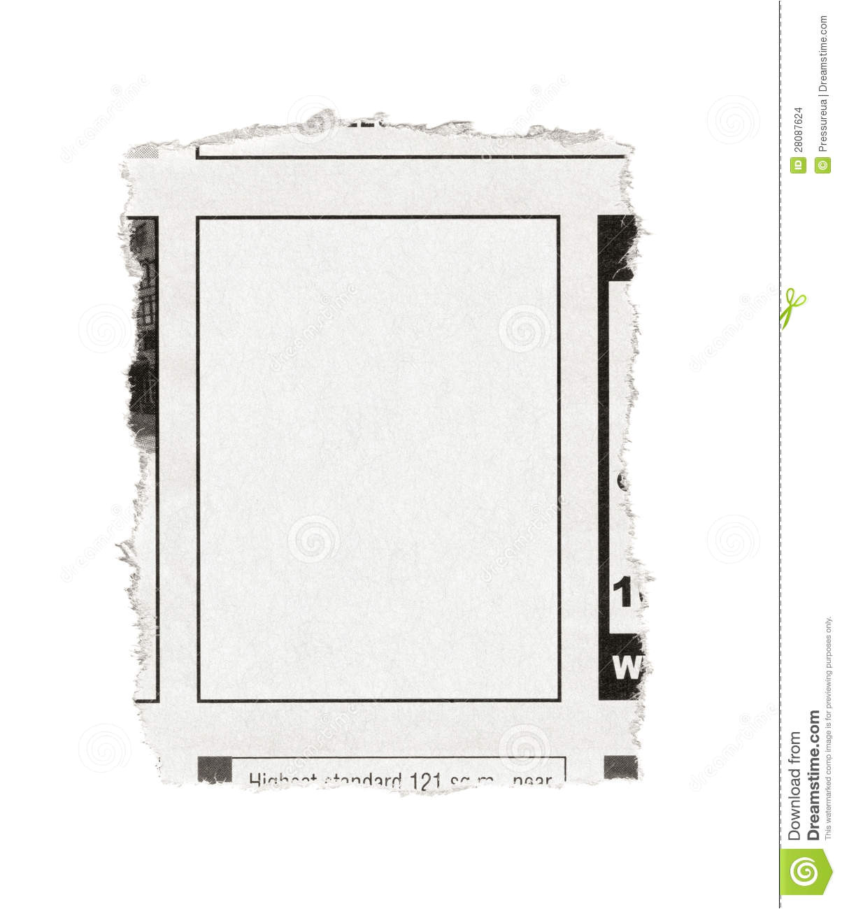 Paper Advertisement Templates Blank Advertisement From Newspaper Stock Images Image
