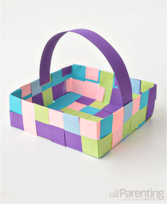Paper Basket Weaving Template Weaving Paper Basket