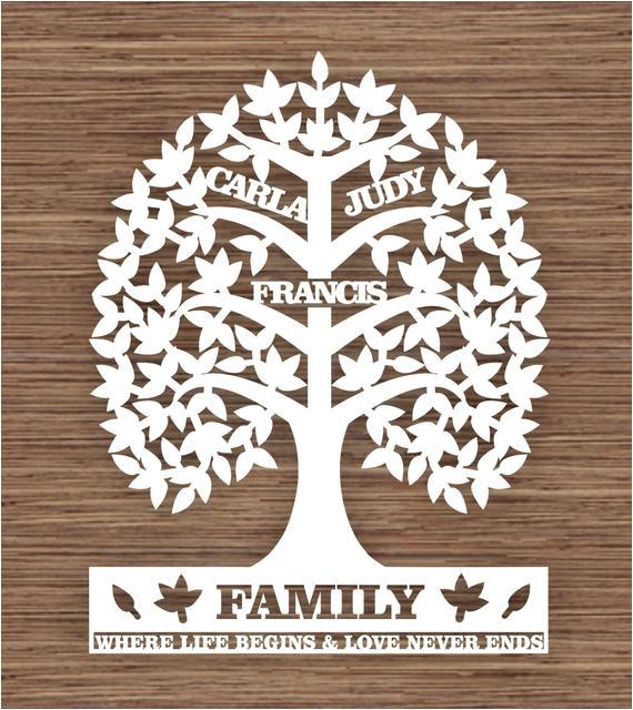 custom leaf family tree for 3 three