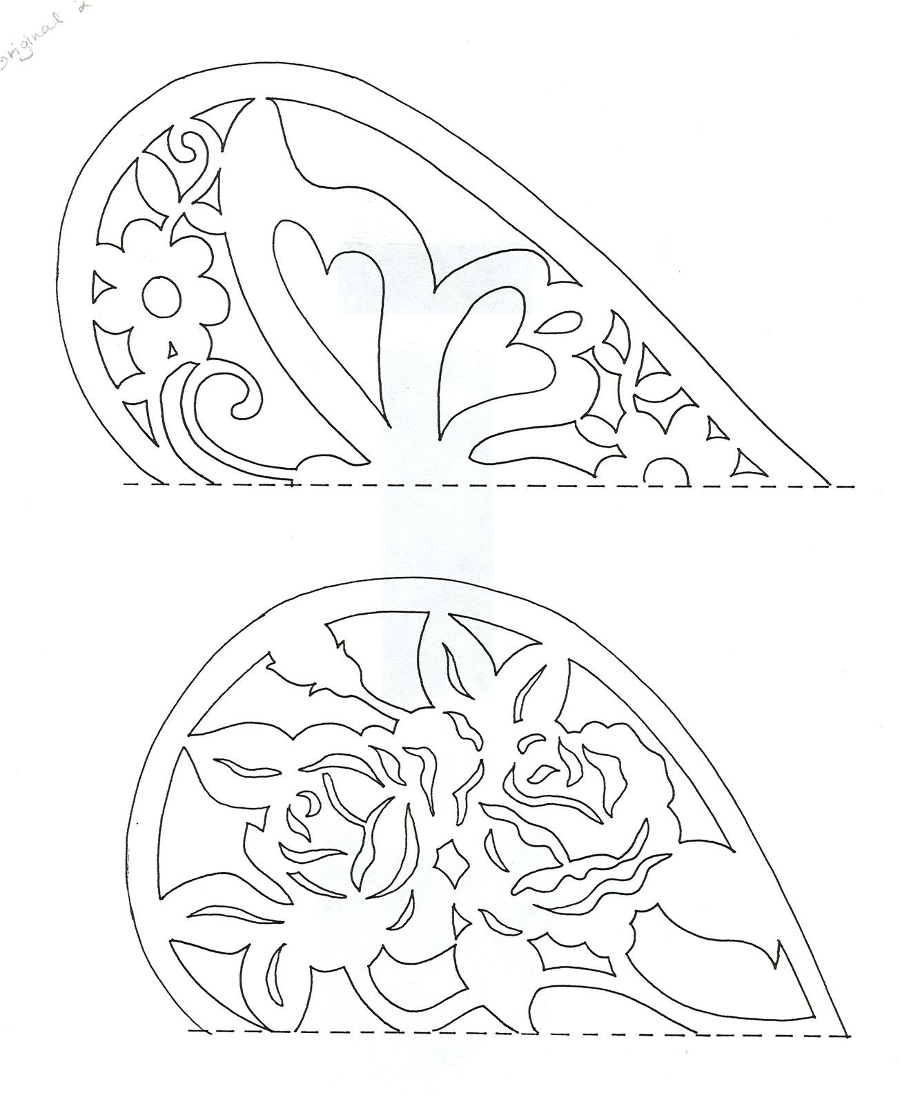 Paper Cutting Templates for Kids Easy Paper Cutting Patterns the top One Has the