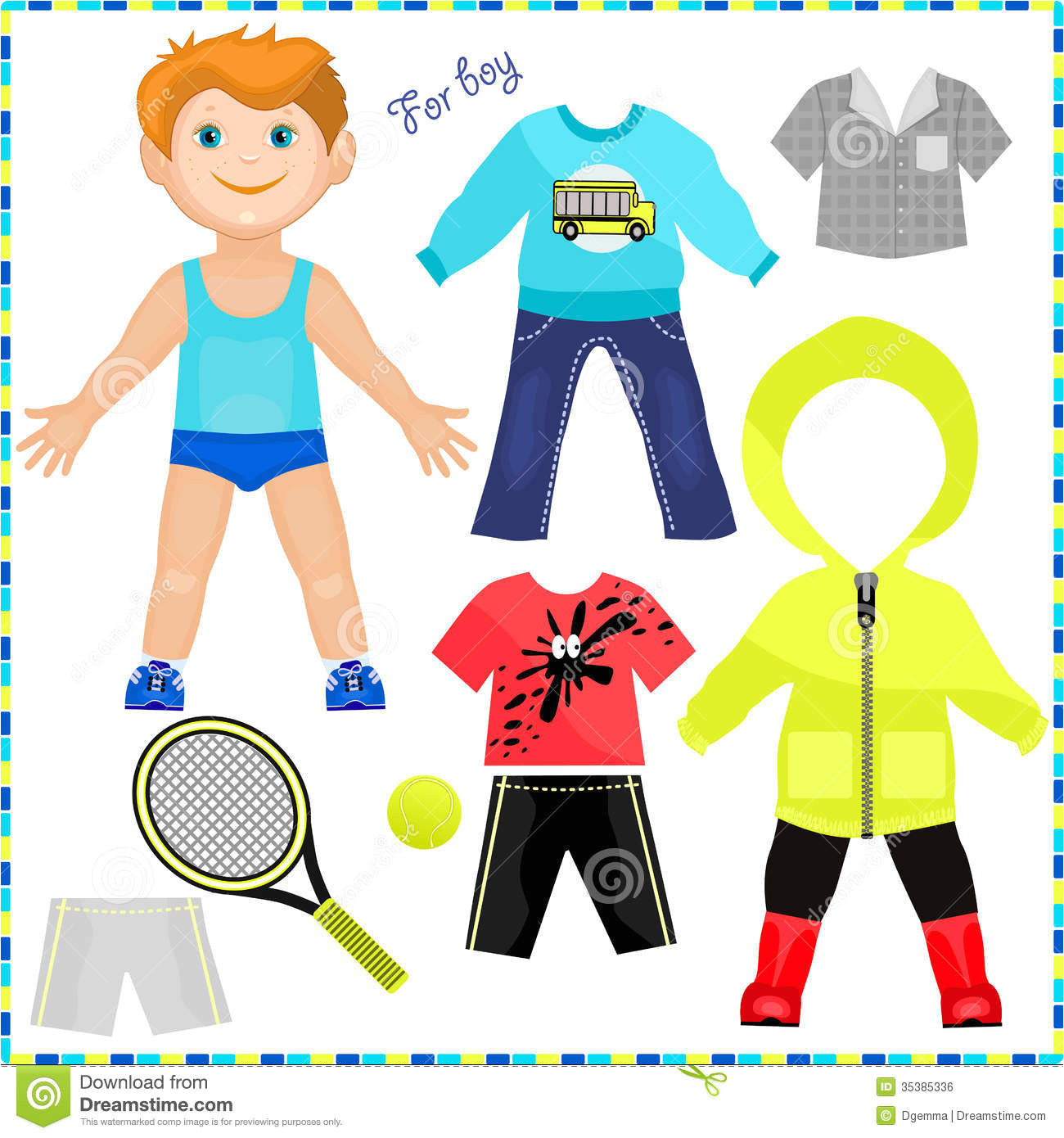 post printable boy clothes 87411