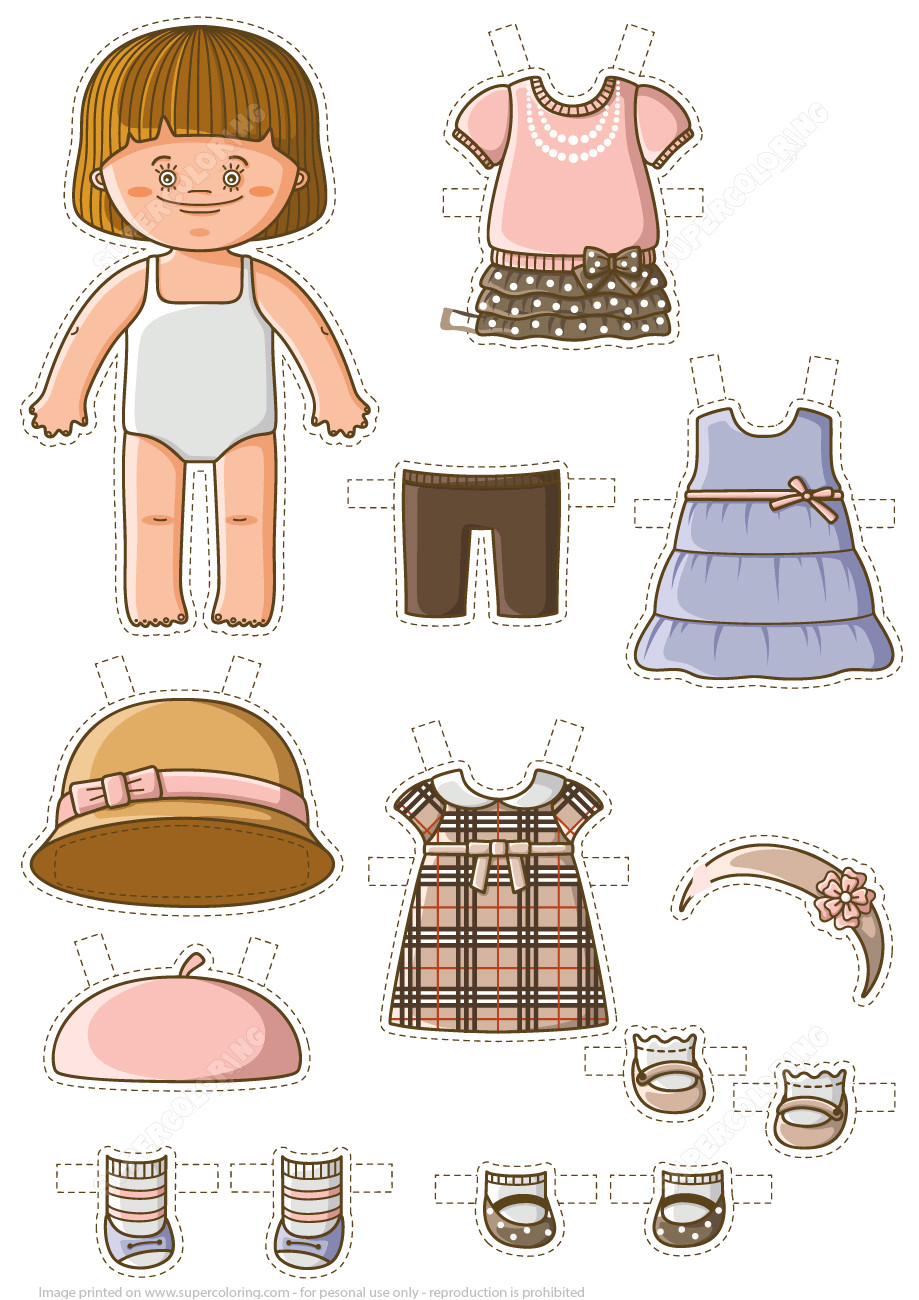 dress up baby paper doll