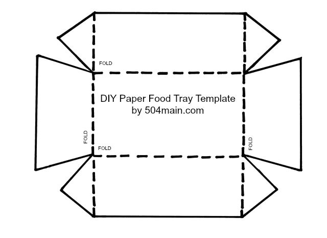 Paper Food Tray Template 504 Main by Holly Lefevre Diy Paper Food Tray Template