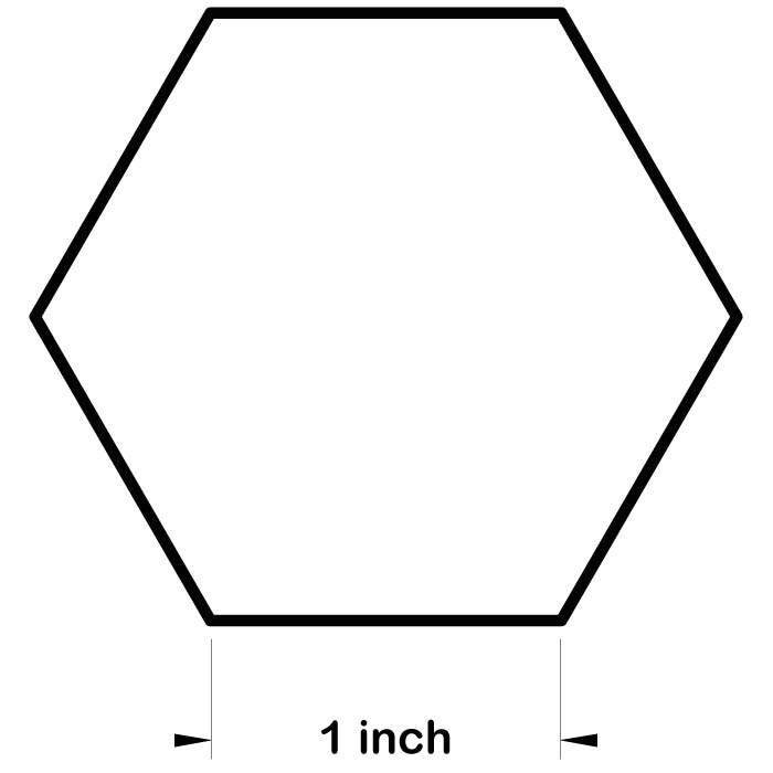 hexagon freezer paper templates