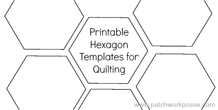 Paper Hexagon Templates for Patchwork Printable Hexagon Template for Quilting Pdf Download