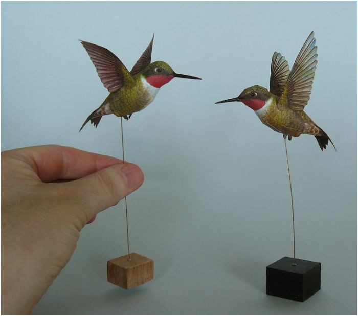 realistic paper birds