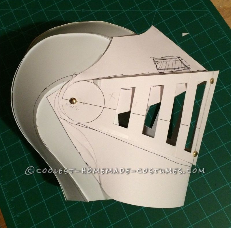 Paper Knight Helmet Template Coolest Kid 39 S Medieval Knight Diy Halloween Costume Diy