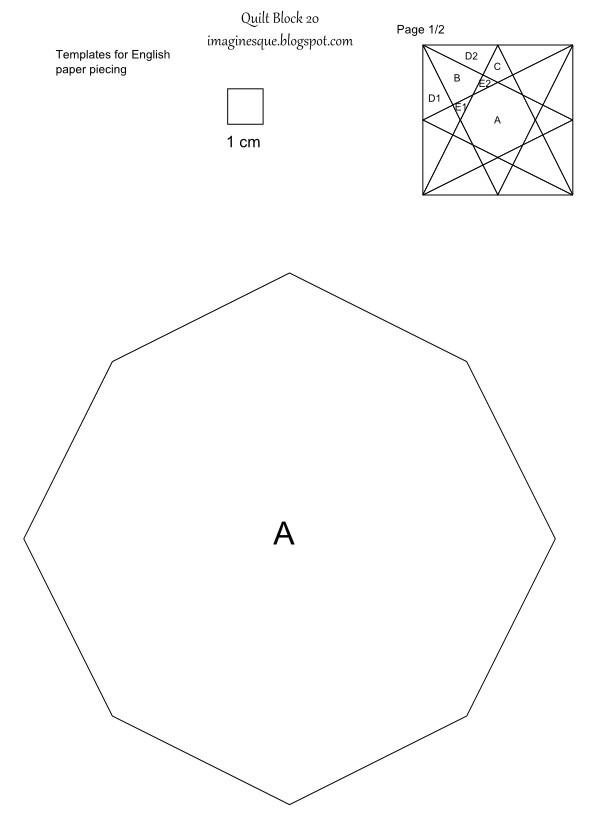 quilt block 20 templates for epp hand