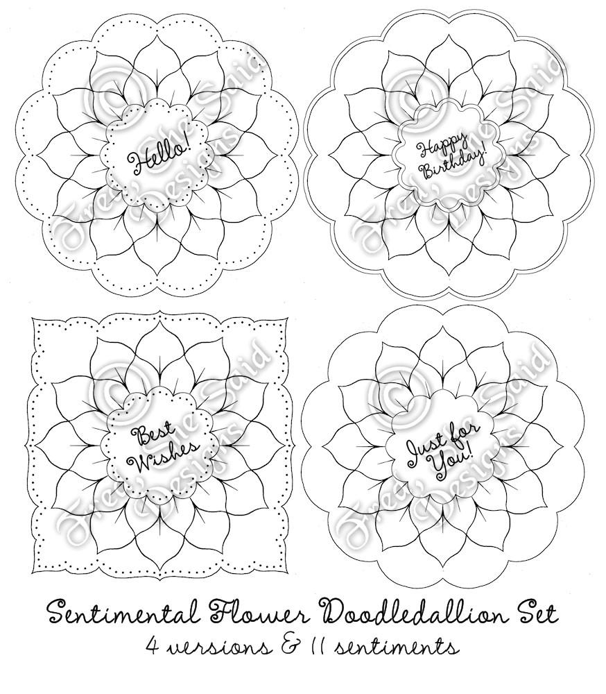 sentimental flower doodledallion set