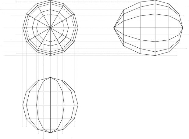 paper sphere template