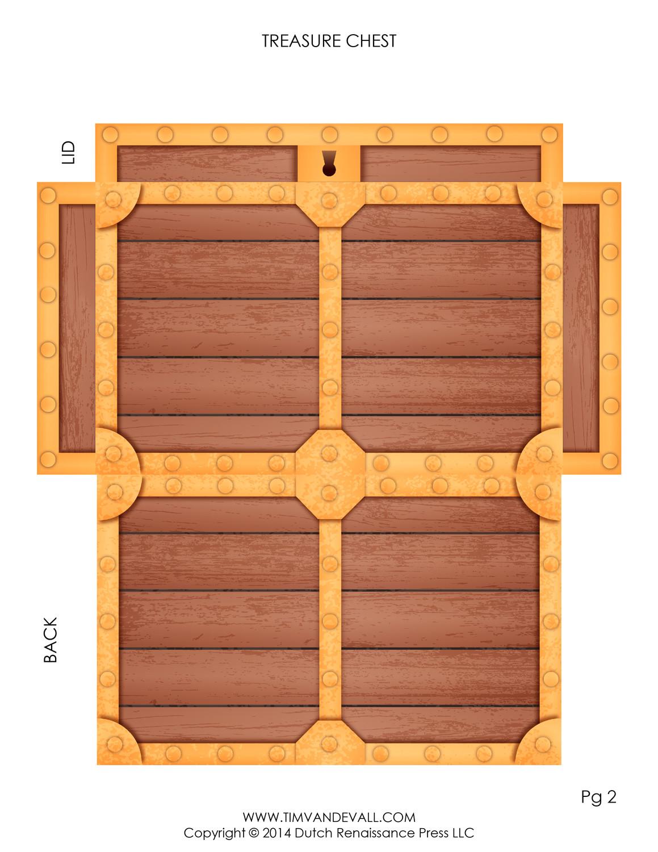 pirate treasure chest template