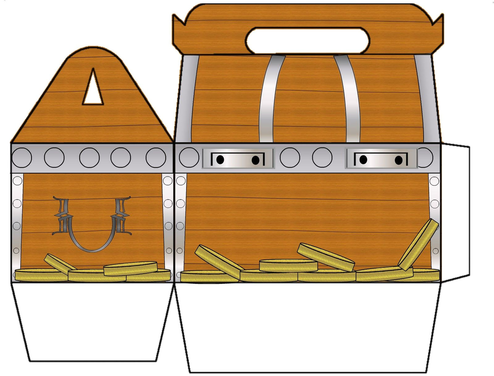 Paper Treasure Chest Template Treasure Chest Coloring Page Printable On Treasure Chest