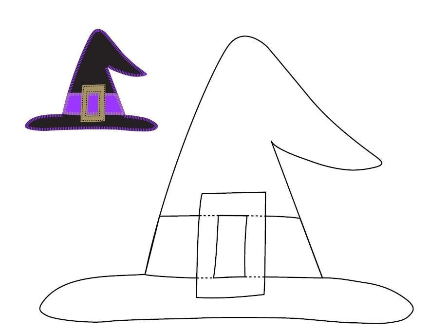 Paper Witch Hat Template Halloween Craft Templates Ucreate Halloween Applique