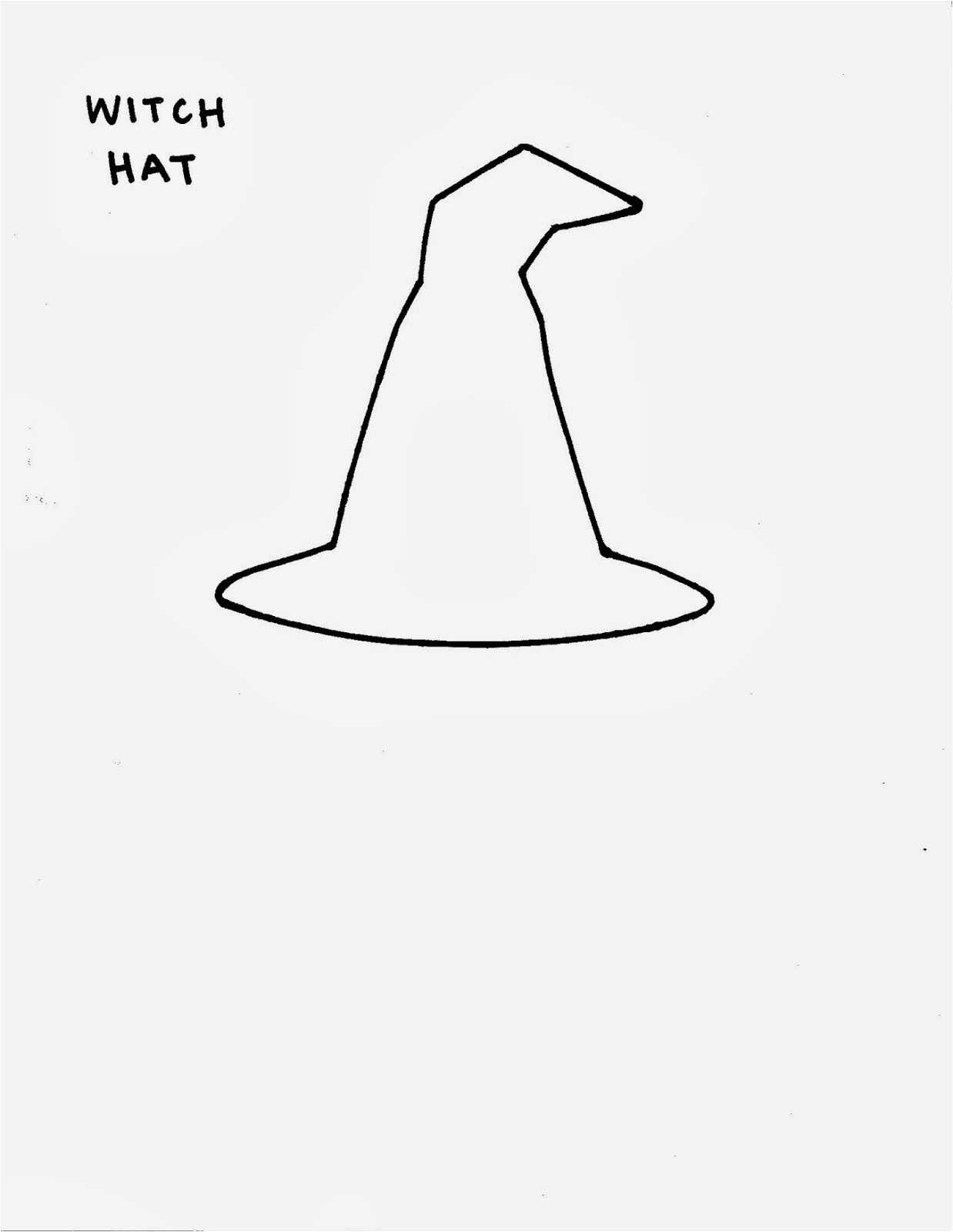 Paper Witch Hat Template Paper Halloween Display Witches Design Sprinkle