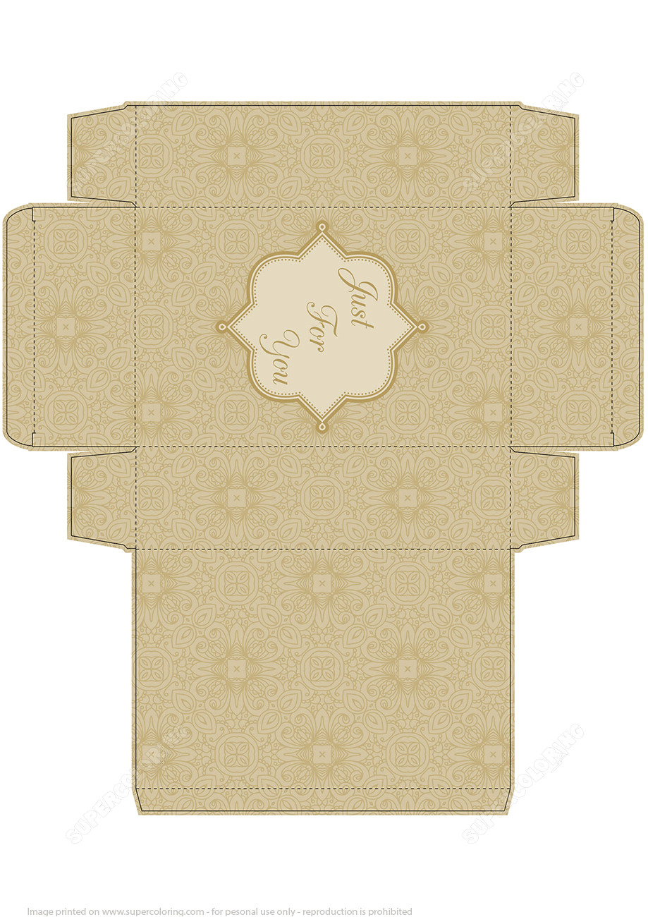 Papercraft Gift Box Templates Handmade Gift Box Template Free Printable Papercraft