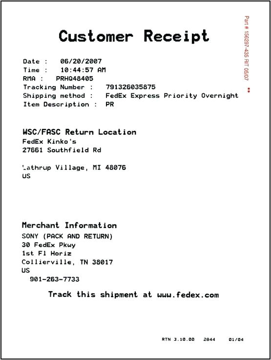 parking garage receipt template