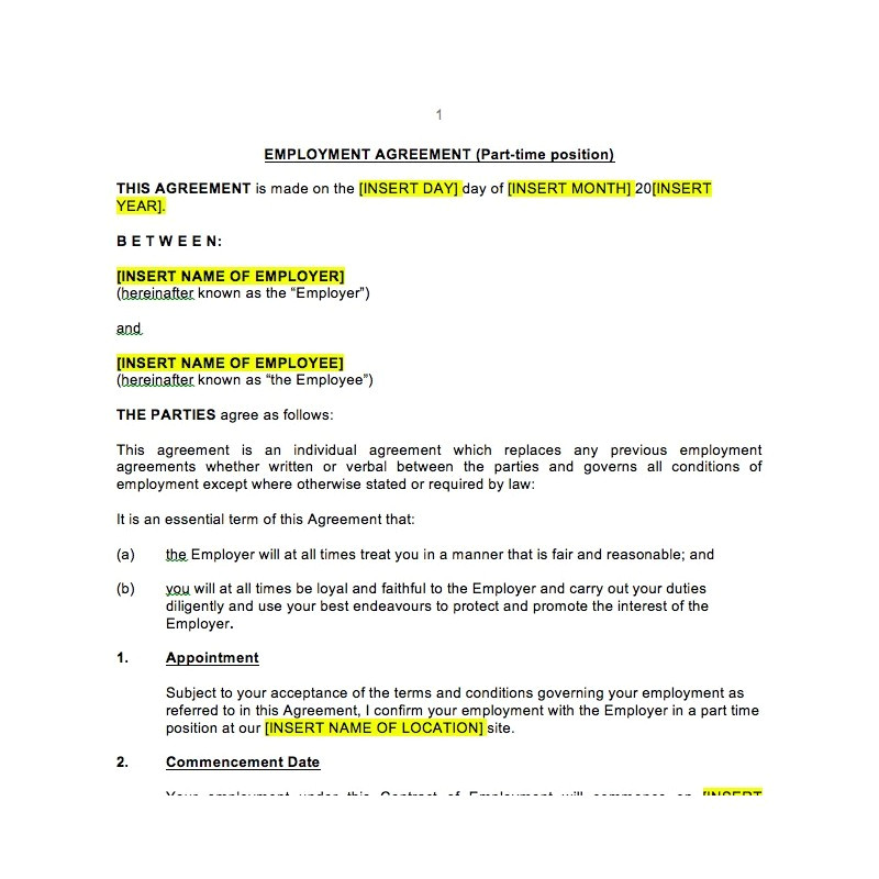 part time award agreement 39