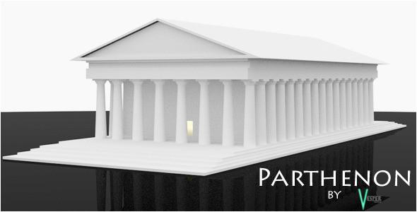 parthenon temple template