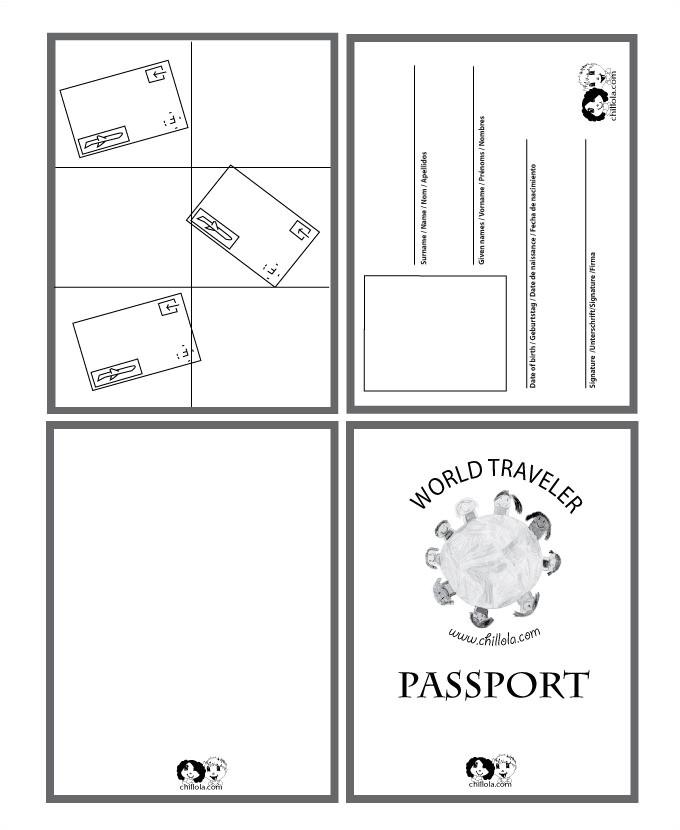passport template