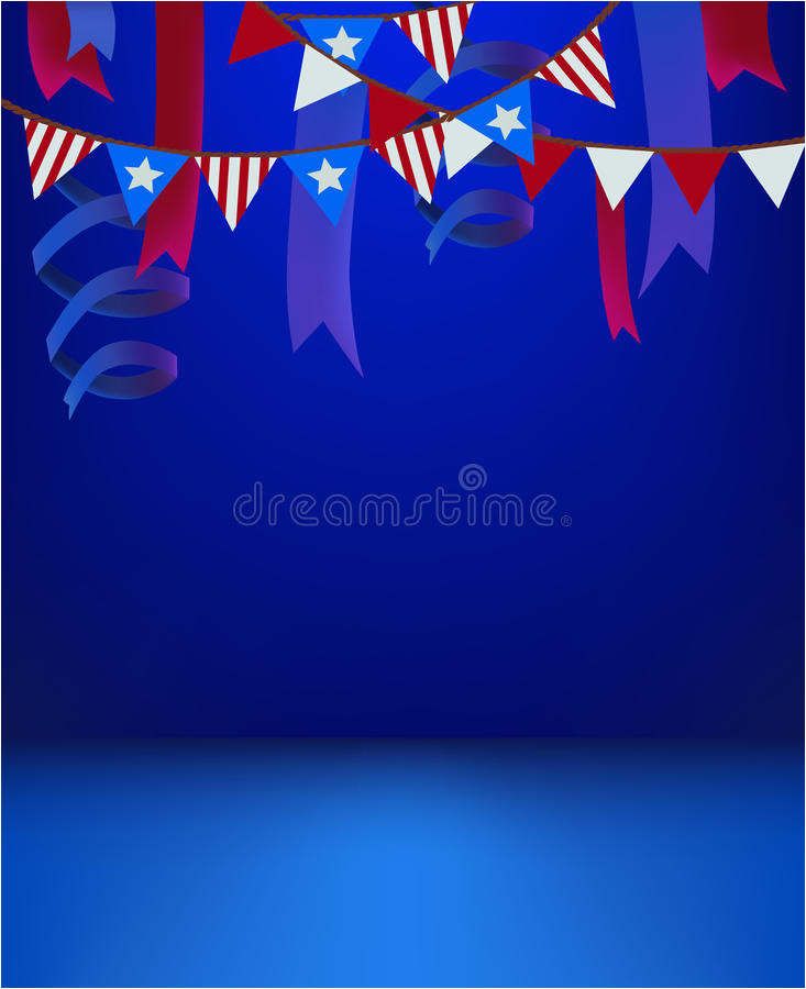 stock illustration th july patriotic background template empty stage scene deco decorated presentation product event invitation american image72769233