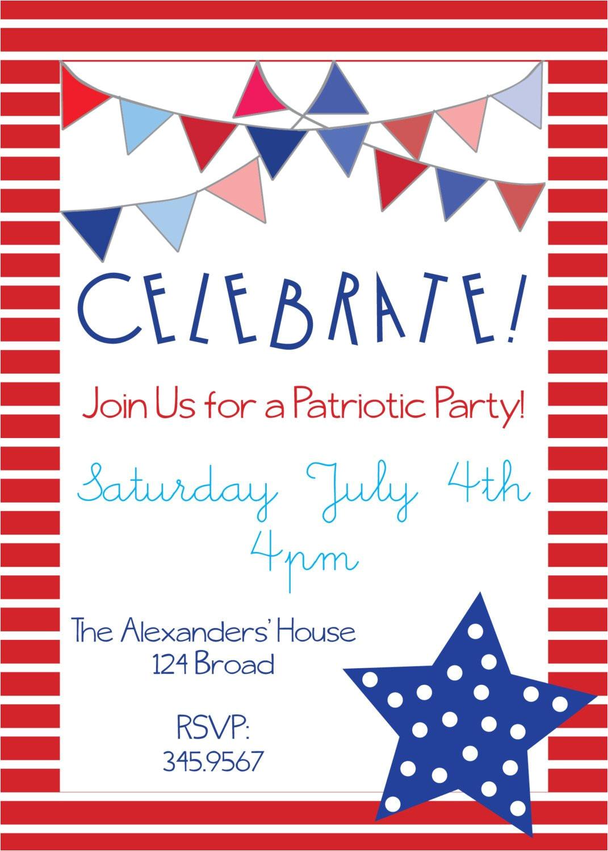 patriotic party invitations for memorial