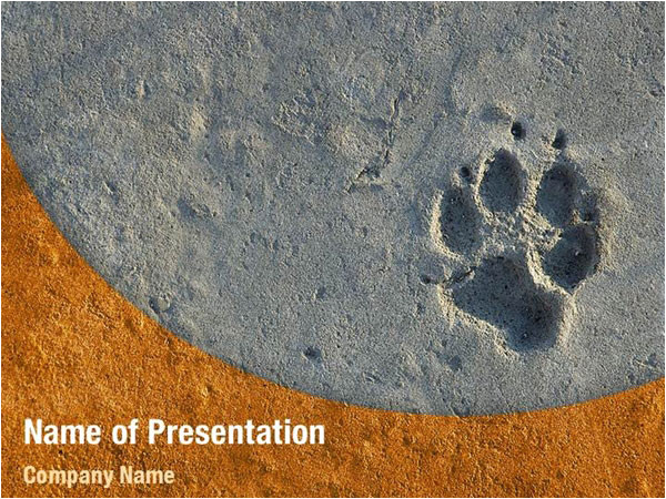 foot print powerpoint templates 04136