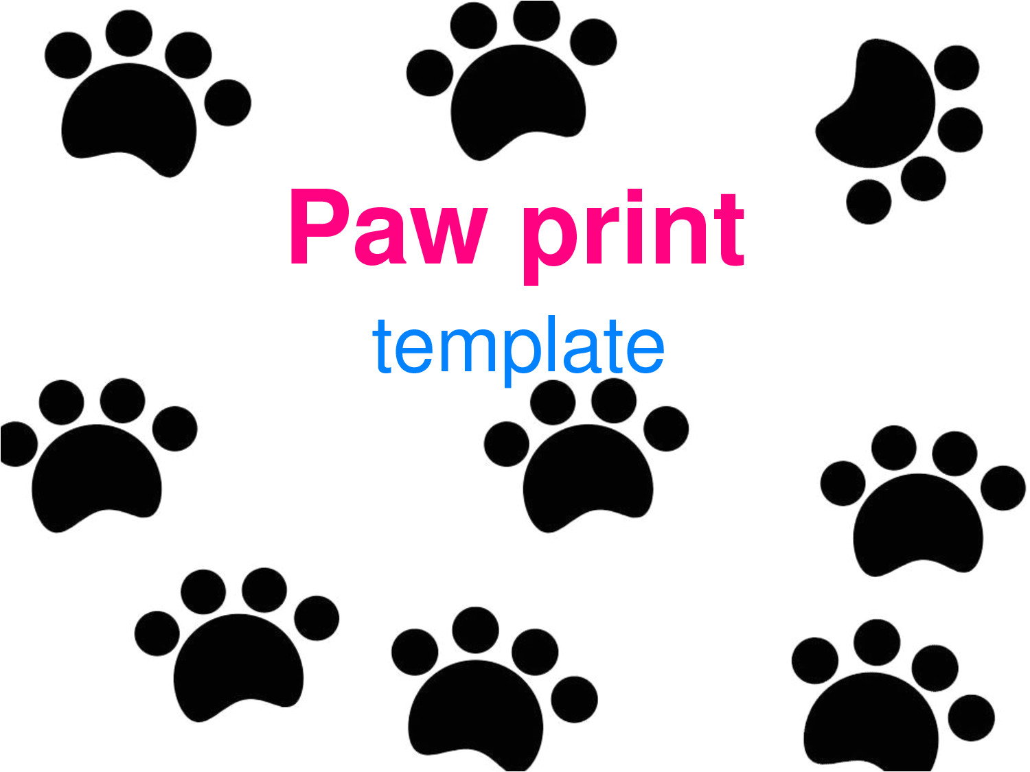Paw Print Powerpoint Template Paw Print Template Clipart Best