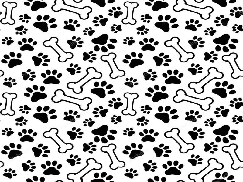 4612 puppy paw print seamless pet paw ppt backgrounds